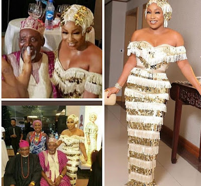 Actress Rita Dominic Snapped With A Sugar Daddy At Chief Daddy Premiere