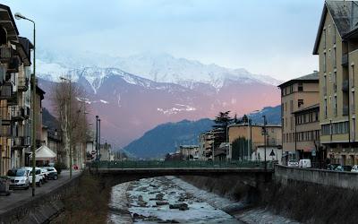 Casco histórico de Tirano. Italia