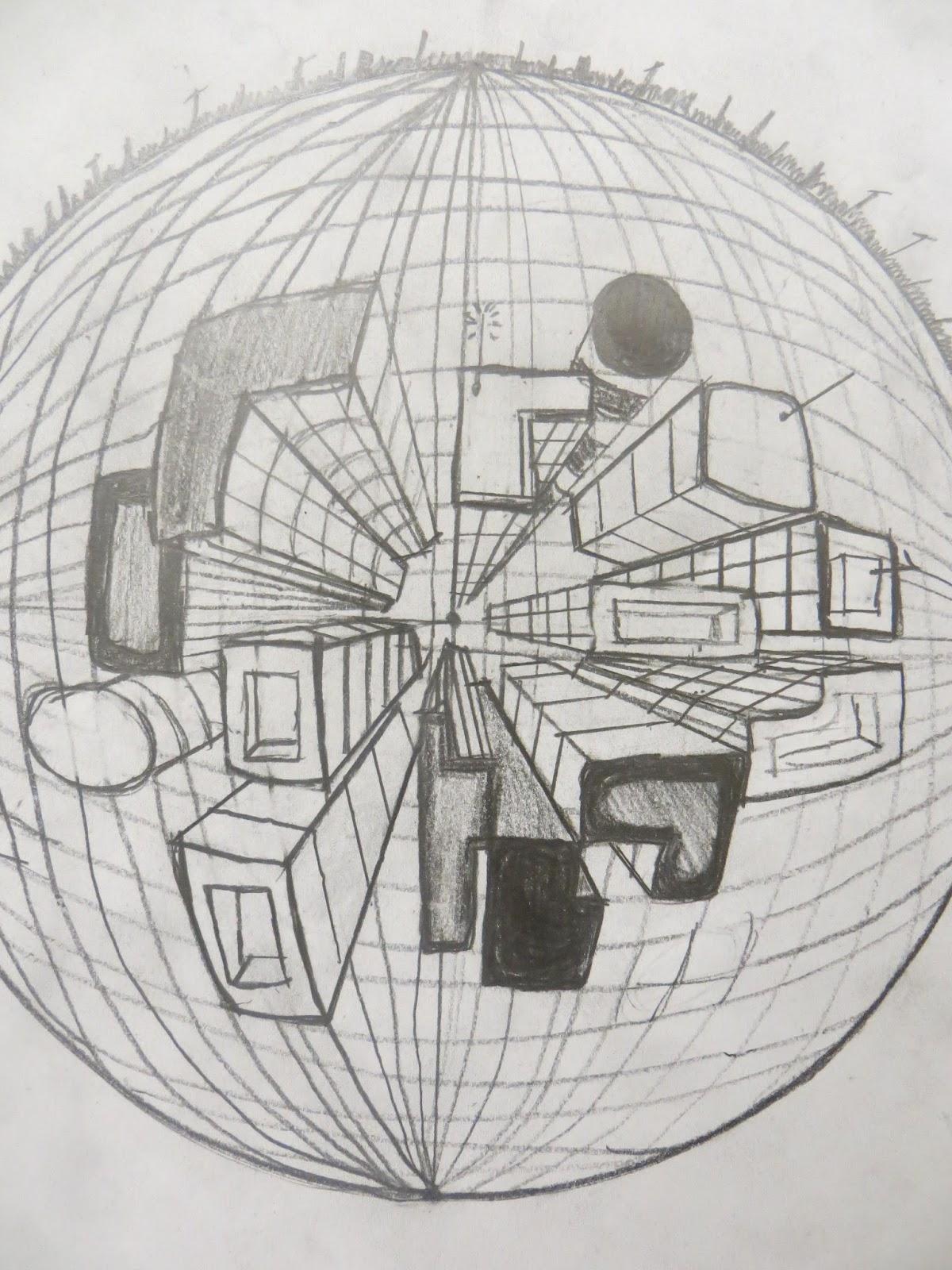 Shana S Art Room Curvilinear Perspective