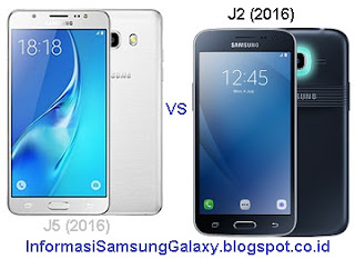 Perbandingan Samsung Galaxy J5 (2016) vs J2 (2016)