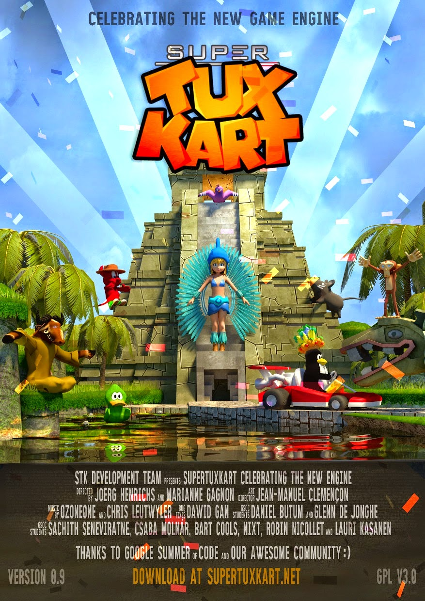 Capa do novo Super Tux Kart