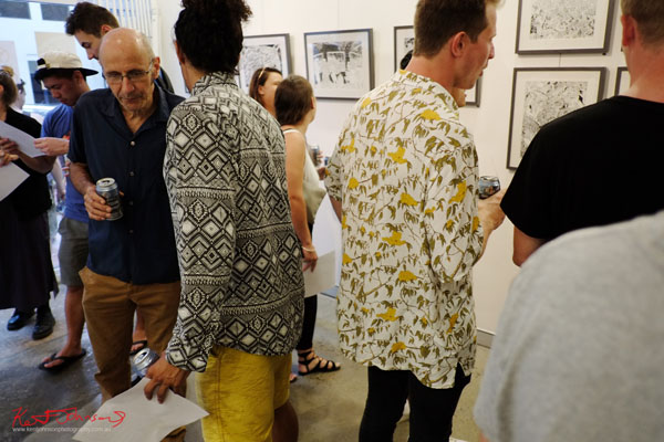 Shorts shirts and patterns, GORO at m2 gallery. Photographed by Kent Johnson for Street Fashion Sydney.