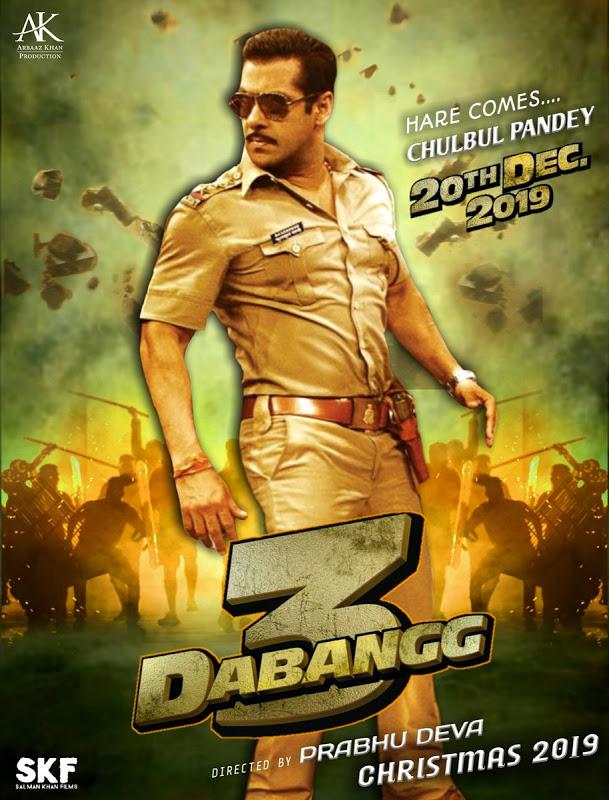 Dabangg 3 2019 Hindi Movie SALMAN KHAN HDTSRip 800MB ORG **Exclusive*