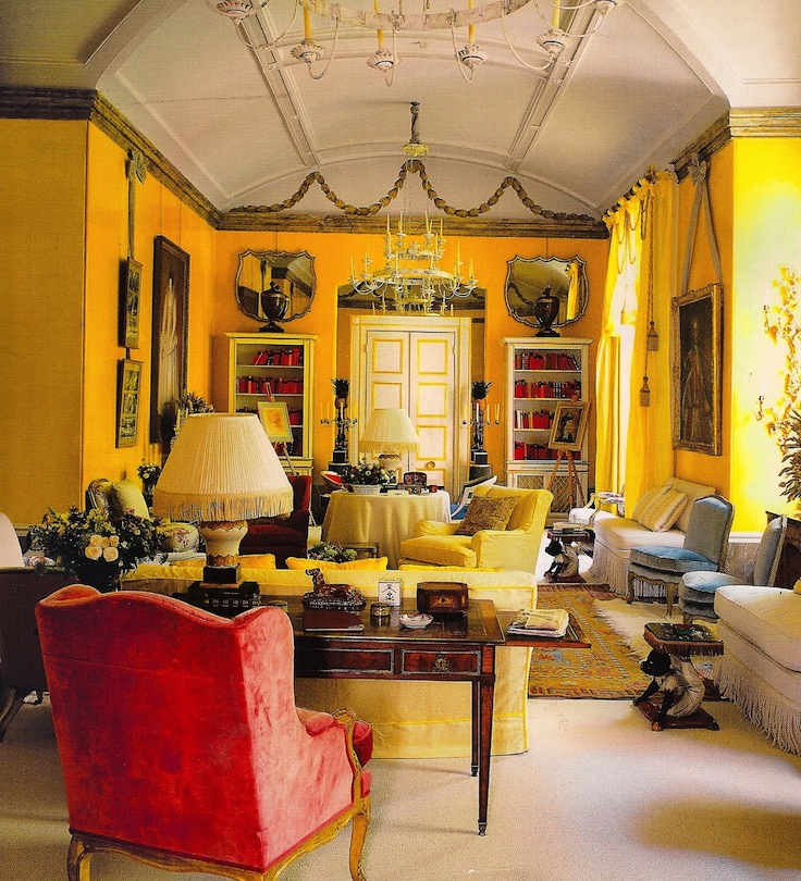 Lunch latte yellow walls part three - Yellow interior house design photos ...