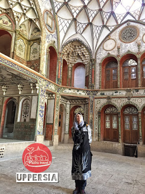 A Solo female traveler visiting Boroujerdi House in Kashan