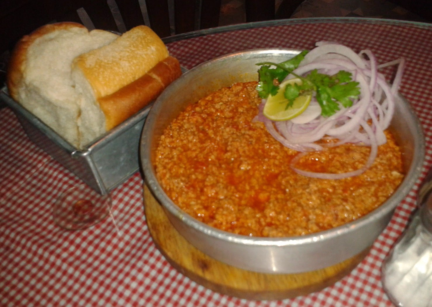 Kheema Pav at Soda Bottle Opener Wala