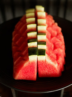 Watermelon slices in the Sky Lounge, Continent Hotel Bangkok