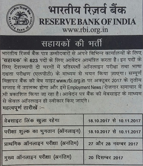 RBI Recruitment rbi.org.in Application Form