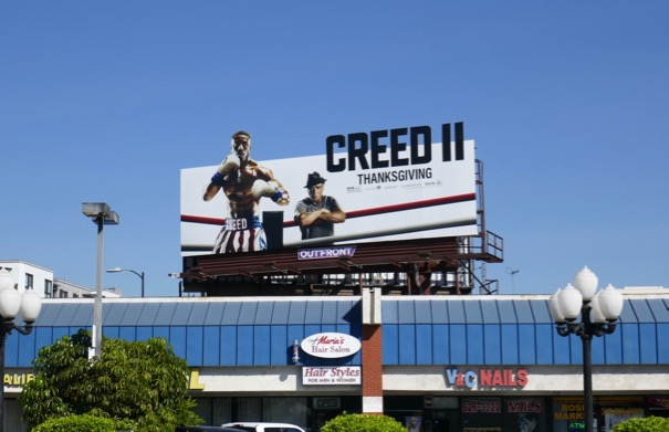 Creed 2 film billboard