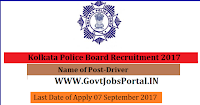 Kolkata Police Board Recruitment 2017– 300 Driver