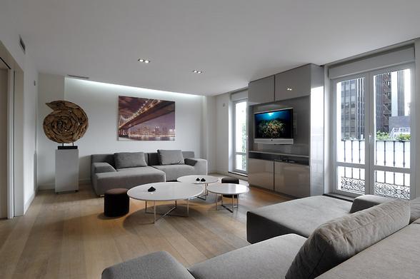 ciri desain interior modern