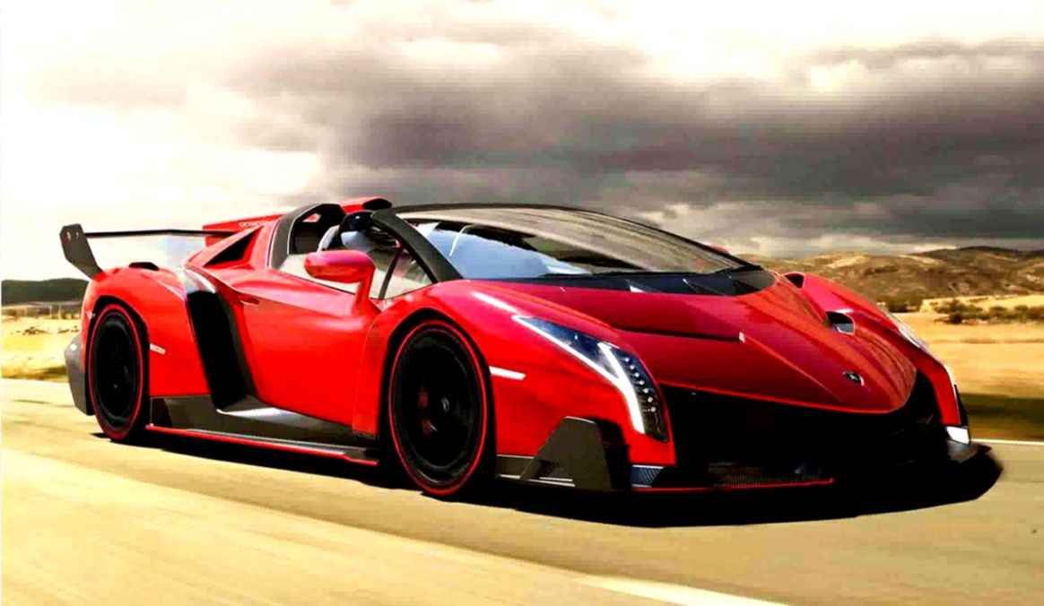 Lamborghini Veneno Roadster Red Wallpaper