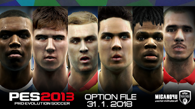 PES 2013 Next Season Patch 2017/2018 Option File Update 31/01/2018
