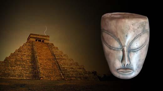 Antiguos artefactos encontrados en México provarían el contacto de los extraterrestres con los Mayas