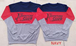 Jual Online Sweater Adventure Navy Murah Jakarta Bahan Babytery Terbaru