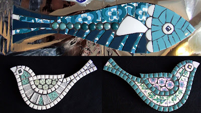 Fish and Bird Mosaics Handmade by Fiona Gurney