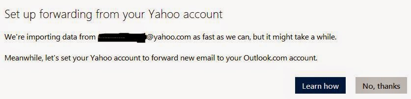 Import Yahoo mail