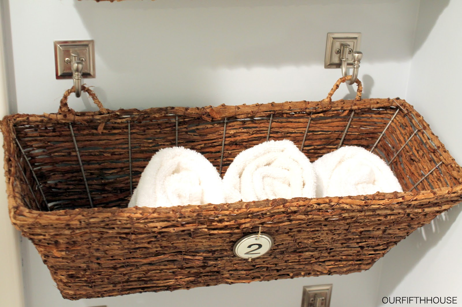 Bathroom wall storage baskets - Basket Bathroom Storage
