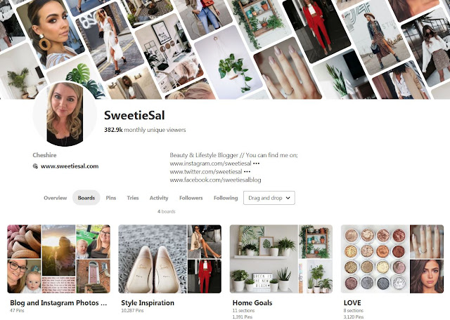 SweetieSal Pinterest Home Page