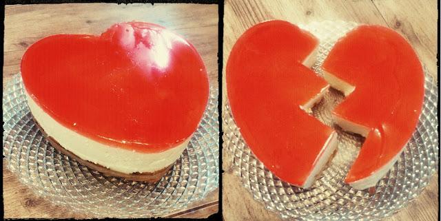 sernik na zimno ciasto na zimno ciasto bez pieczenia ciasto z galaretką sernik truskawkowy ciasto serce zlamane serce