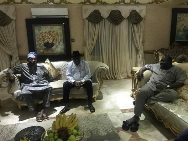 News in Pictures: Former presidents Obasanjo, Jonathan meet