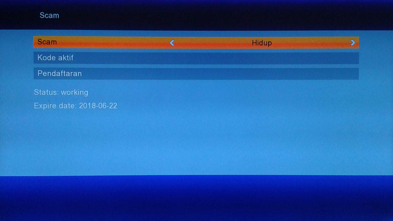 Cara Scam di Receiver Matrix Burger Extra HD