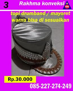 topi mayoret warna silver