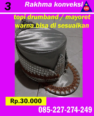 topi mayoret warna silver