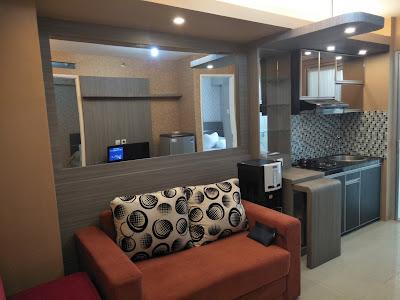 Desain interior apartemen type 2 bed room