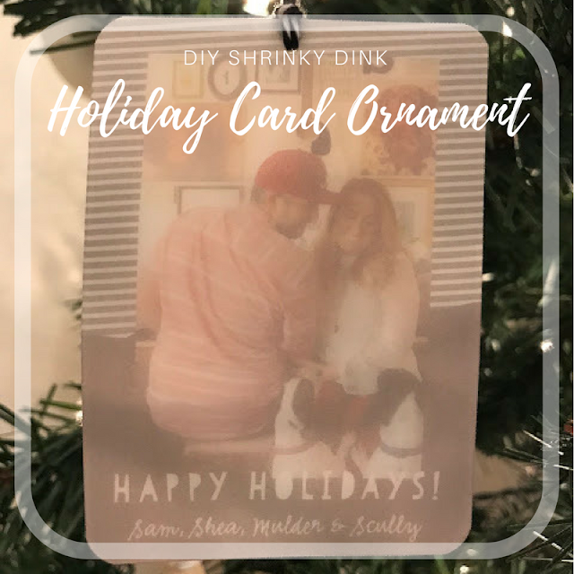 Create your own CUSTOM Holiday Card Ornaments with Shrink Film!