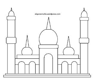 Gambar Sketsa Mewarnai Masjid Terbaru 201720