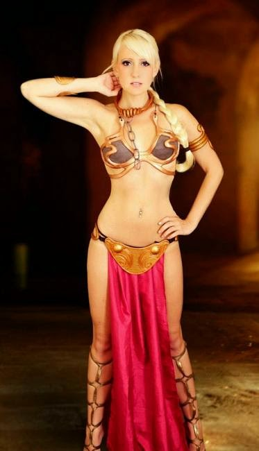 very sexy princess leia costume from jedi