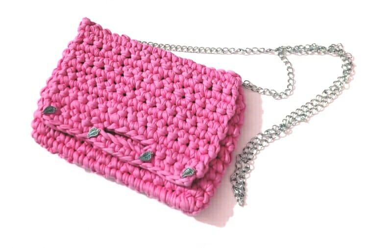 Jipymagic-Crochet S  BOLSOS DE MANO TEJIDOS EN TRAPILLO 0ae6fd0e8b2