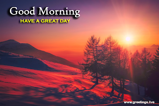Sunrise point of view beautiful sky image with good morning wishes trees mountains