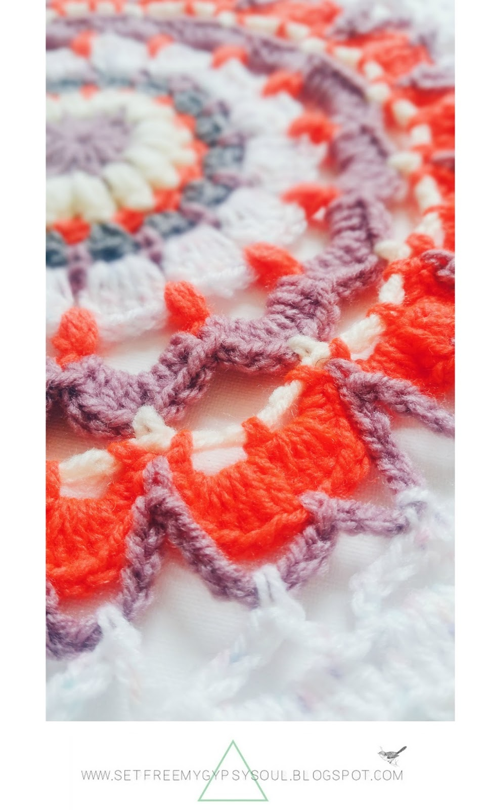 free crochet mandala pattern neon spring bohemian