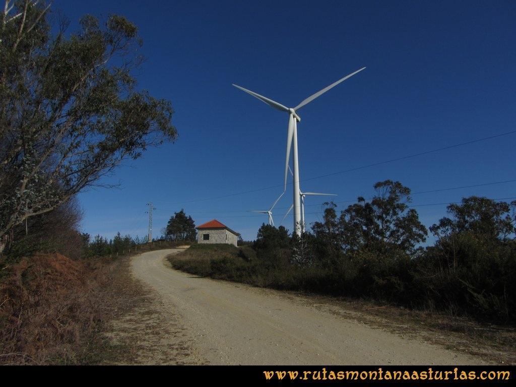 Ruta Sierra Bufarán, picos Degollada o Grande y Cotera: Camino entre molinos de viento