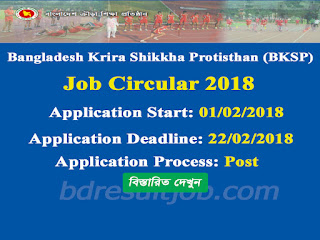 BKSP Coach Recruitment Circular 2018