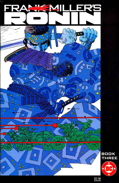 Ronin v1 #3 dc comic book cover art by Frank Miller