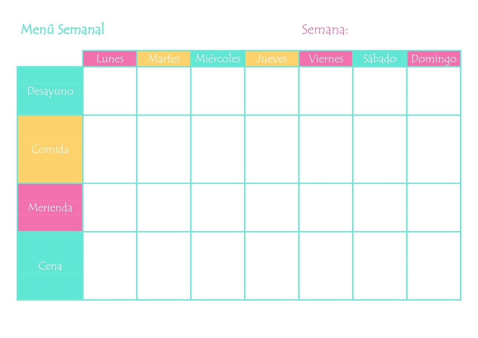Cómo Organizar un Menú Semanal Sano y Equilibrado - Alrededor de Ana