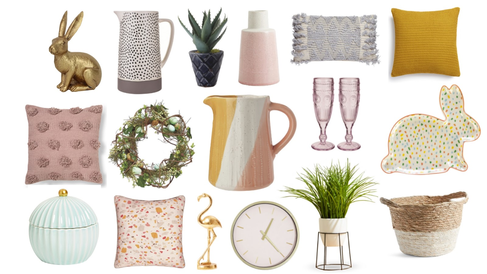 spring summer homeware 2019. update your home for easter and spring with home decor on the high street spring summer 2019 for under £20.