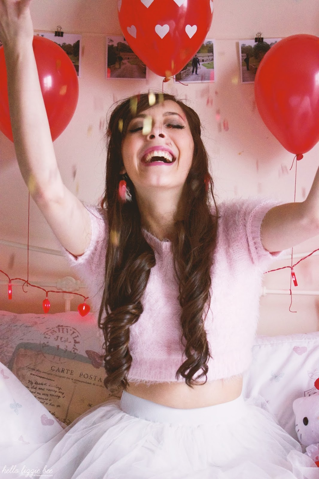 heart confetti, valentine's day room decor
