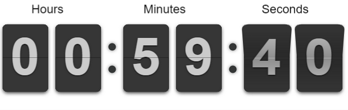 Create Simple JQuery Flip Countdown Timer – flipclockjs - webtechpoints