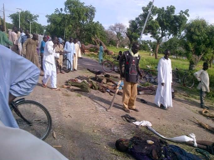 0 Viewers Discretion Is Adviced!! See Pics Of Boko Haram Militants Nilled By Nigerian Troops (Graphic Photos)