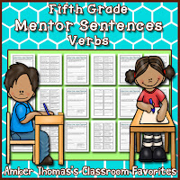 http://www.teacherspayteachers.com/Product/Mentor-Sentences-Verbs-Fifth-Grade-2234838