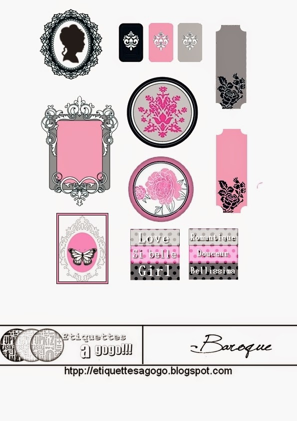 Baroque: Free Printable Labels.