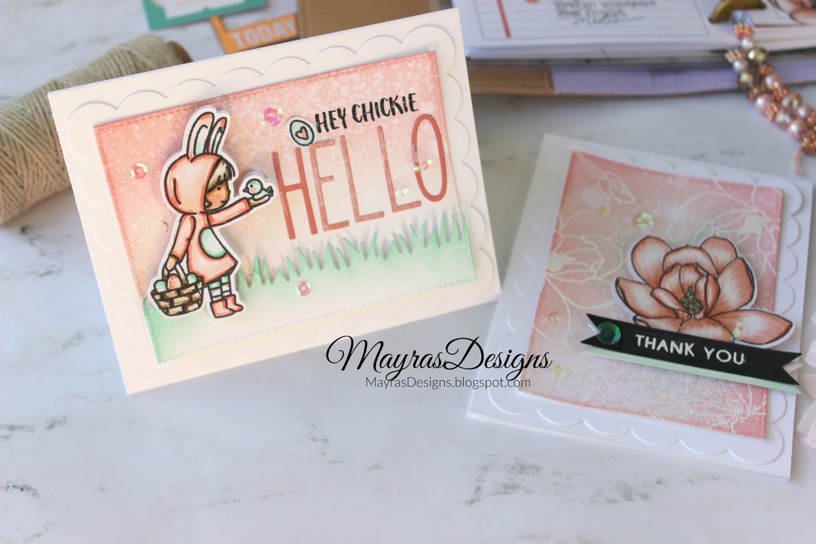 Mayras Designs Magnolias Planner Spread And Card