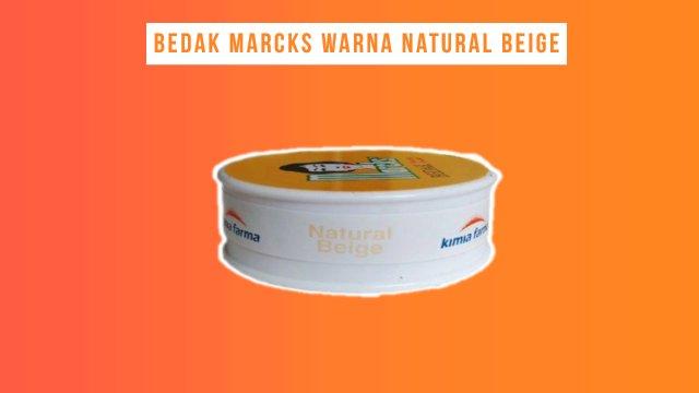 Bedak Marcks Warna Natural Beige untuk kulit berminyak
