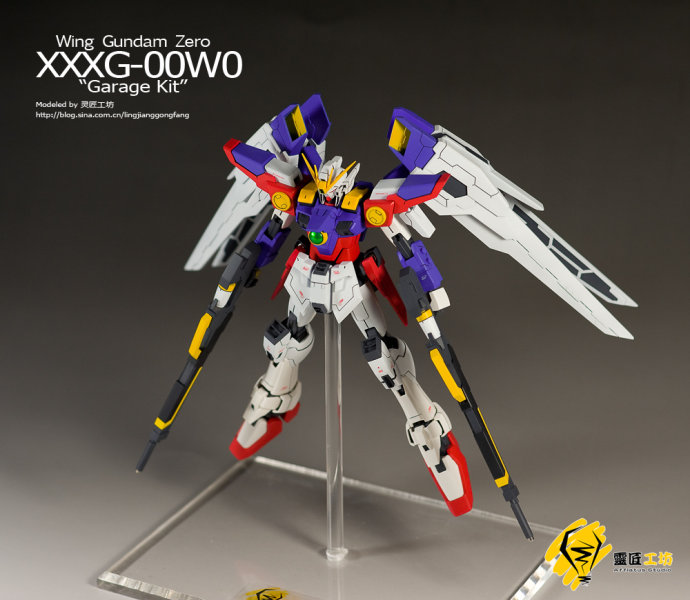 1/100 Wing Gundam Zero Garage kit - painted build - Gundam
