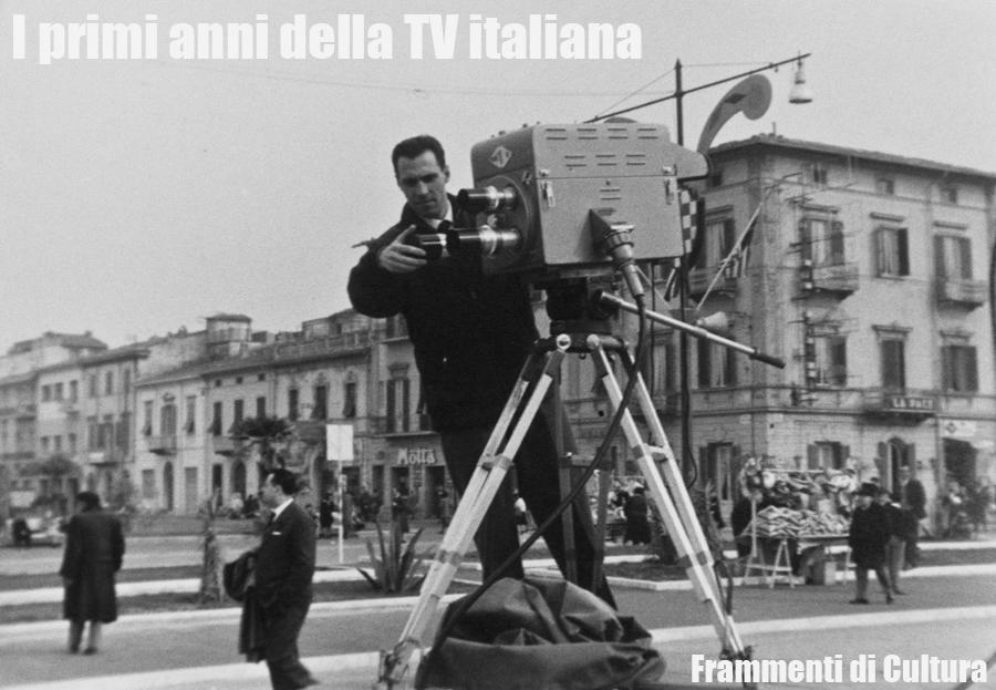 Giuliano Piol a Viareggio con una delle telecamere progettate dall'Ing. Bufano che all'epoca era il Direttore del Centro Ricerche della Rai di Torino.