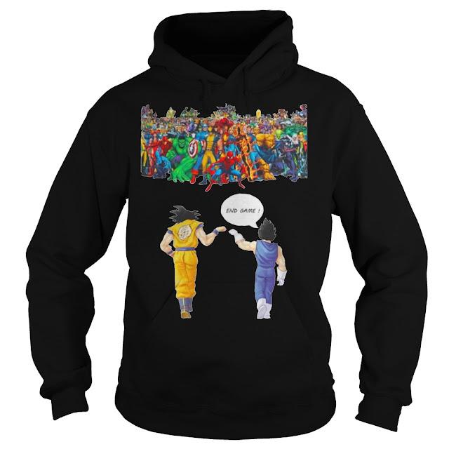 Avengers great war Son Goku and Vegeta endgame Hoodie, Avengers great war Son Goku and Vegeta endgame T Shirts